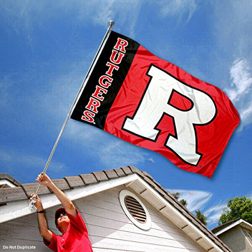 Rutgers Scarlet Knights University Large College Flag