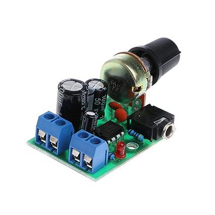 Amazon com: Board Amplifier Mono, LM386 Mini Audio Power