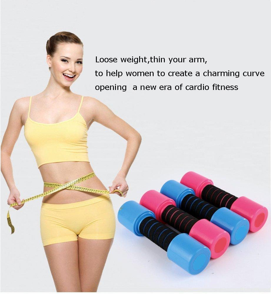 super-bab Fitness mancuernas de la mujer - Mancuernas (2,5 kg mancuernas de plástico (danza de aeróbic Yoga brazo aparato, azul: Amazon.es: Deportes y aire ...