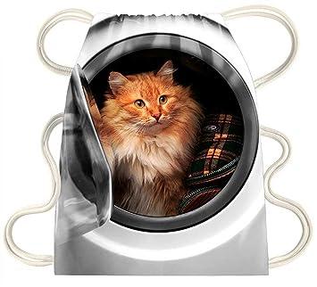 iRocket - gato dentro de la lavadora - Cordón Mochila bolsa bolsa ...
