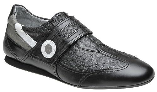 Zapatos de Caballero en Piel de Ternera y Avestruz Franco Cuadra, Tamaño:42,