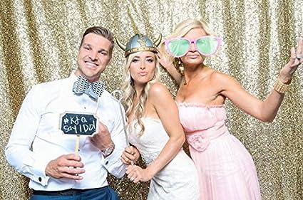 BACKDROP WEDDING Best Choice 5FT*6FT Light Gold Sequin Photo