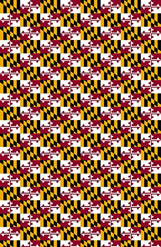 Maryland's FLAG pattern Heat Transfer Vinyl Sheet for Silhouette 12