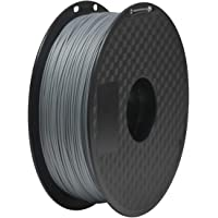 PLA Filament 1.75mm, Geeetech 3D Printer PLA Filament,1.75mm,1kg per Spool (Silver)