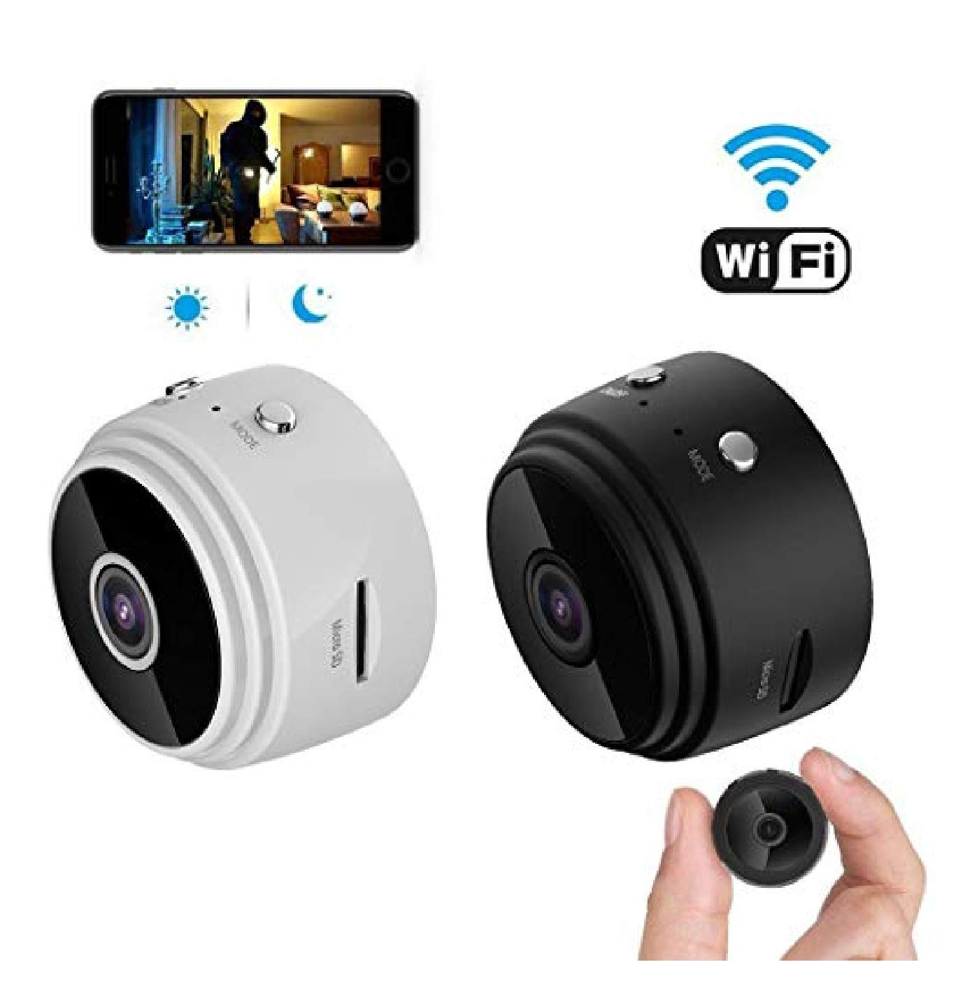 Lanbter 1 Pc 1080P HD WiFi Wireless Sports DV Surveillance Camera Night Vision 1920 x 1080 Security Video Recorder by Lanbter