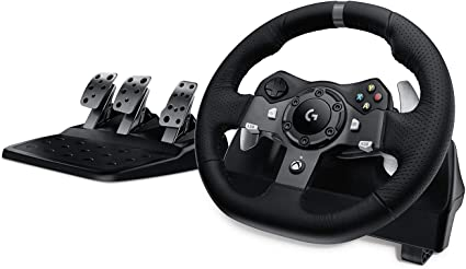 Logitech G920 Driving Force Racing Wheel and Floor Pedals, Real Force Feedback, Stainless Steel Paddle Shifters, Leather Steering Wheel Cover for Xbox Series X|S, Xbox One, PC, Mac - Black: Amazon.co.uk: Computers & Accessories