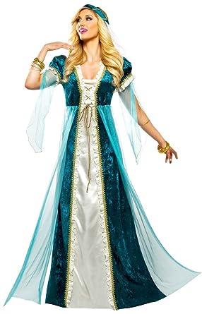 df0dbdaddab9a8 Amazon.com: Goddessey Emerald Juliet Adult Costume-: Clothing