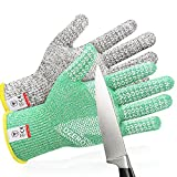 OZERO Cutting Gloves Food Grade Level 5 Protection EN388 Standard Safety Kitchen Gloves for Onion Slicing Meat Cutting Food Processing Fish Cleaning