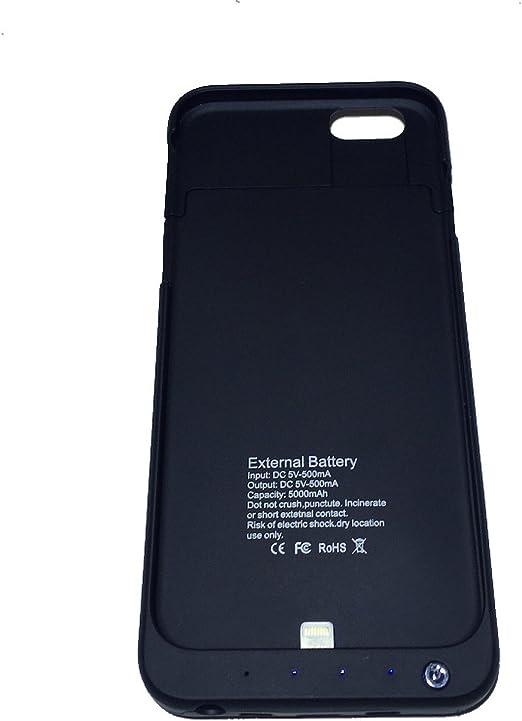 Custodia Cover con batteria integrata 5000mAh per Apple iPhone 6 ...