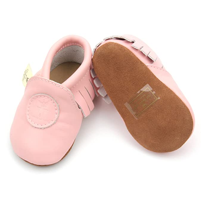 Liv & Leo Baby Boys Girls Moccasins Soft Sole Crib Shoes Slip-on 100%  Leather: Amazon.ca: Shoes & Handbags