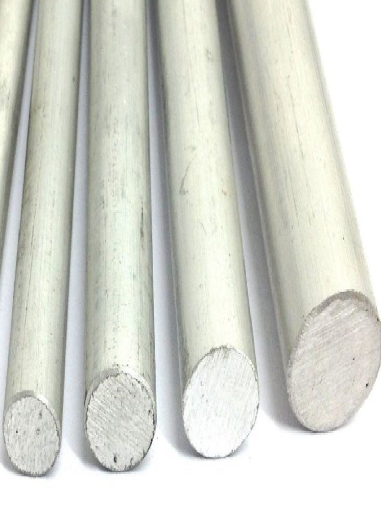 Round Aluminium Bar Pack of 4 6082 T6 6 Inches Long Sizes 3/8 1/2 5/8 3/4 unknown 6082t6p1