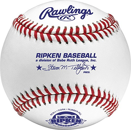 Rawlings Raised Seam Baseballs, Cal Ripken Competition Grade Baseballs, Box of 12, RCAL1 (Grade Leather Baseball)