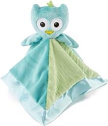 af2132c3ea0 Snoozies Cozy Little Lovies Plush Satin Baby Blanket - Blue Owl