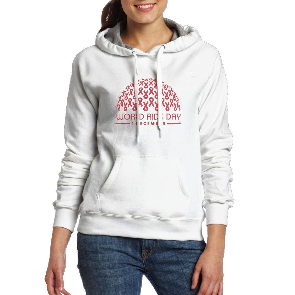 DADALING World Aids Day Aids Awareness Aids Womens Black Long Sleeve Drawstring Hoodie Sweatshirt With Pocket