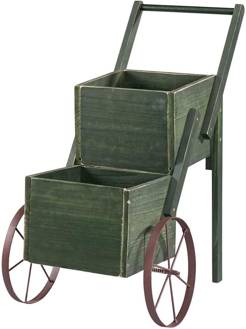 Fox Valley Traders 366288 Garden Trolley Cart, Green