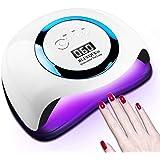 Lámpara de uñas para esmalte de gel, 168W 42 LED Secador de uñas profesional UV Lámpara de uñas LED con 4 ajustes de temporiz