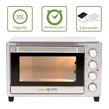 Simple Living productos sl-c32l 32L XL Convection Oven - Encimera Compatible con aire Función de la freidora: Amazon.es: Hogar
