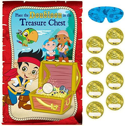 Amscan AMI 271288 Jake et les Pirates du pays imaginaire Party Game, AMI 271288 1, multicolore