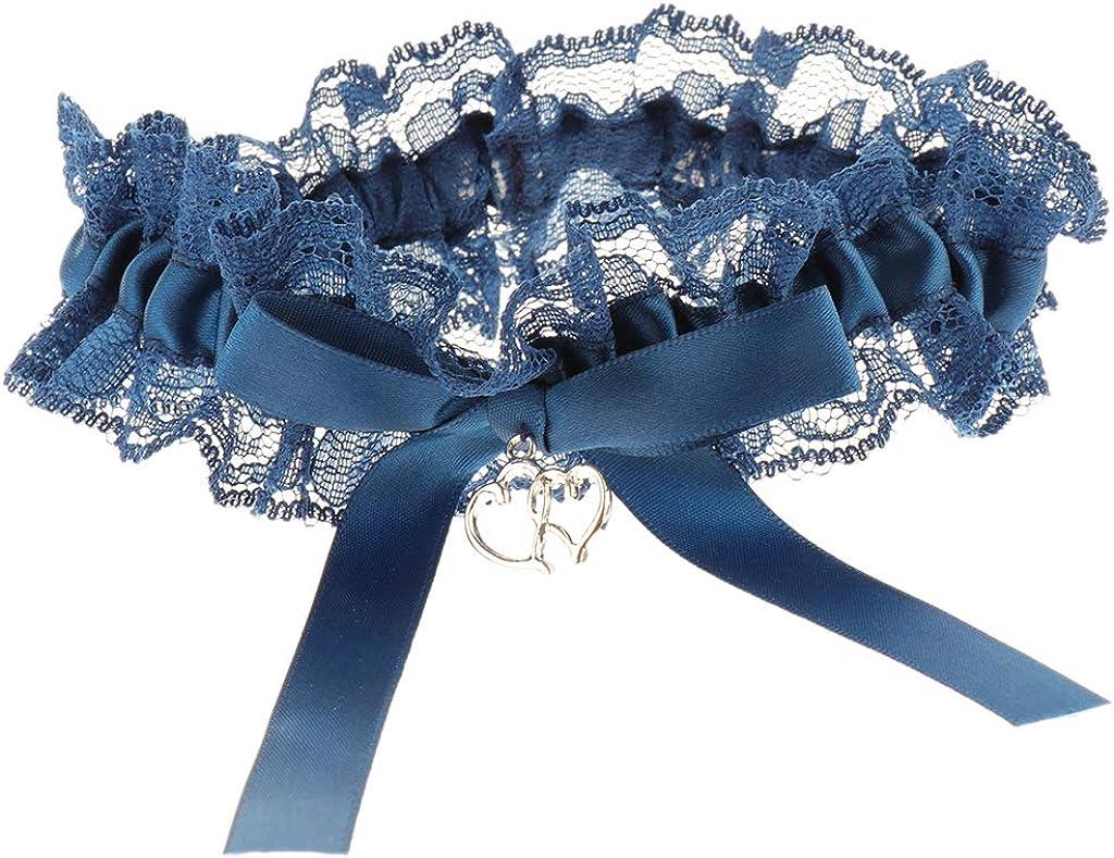 P Prettyia 2pcs Braut Strumpfband Garter Beinschmuck Hochzeit Kost/üm Zubeh/ör aus Spitze und Satin