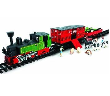 Elektrisches Spielzeug Kinder Eisenbahn Zug Set Neu Batteriebetrieben Starterset Lok Mit Schienen