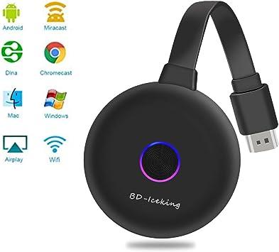 2,4Ghz WiFi InaláMbrico Hdmi Adaptador,1080P HD, para Smartphones Android/iOS/Pc/TV/Monitor/Proyector(Upgrade): Amazon.es: Electrónica