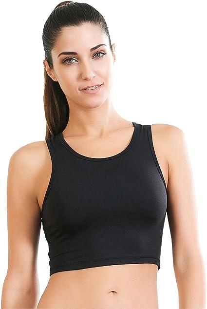 high neck sports bra amazon