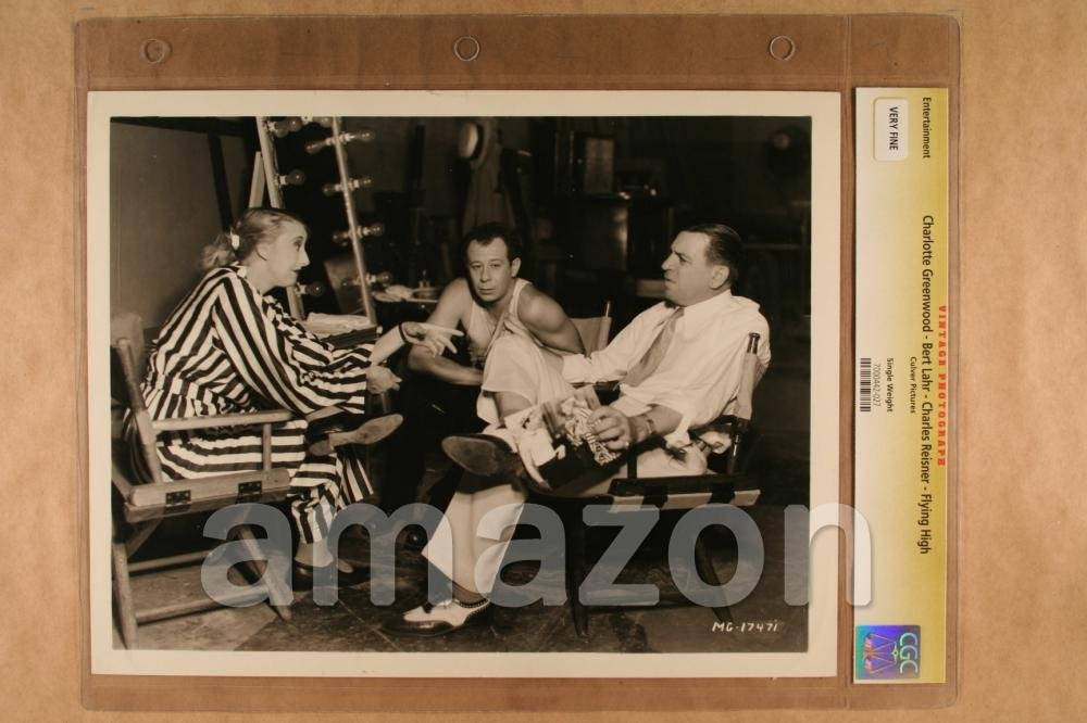 Vintage Photo Of CGC CHARLOTTE GREENWOOD BERT LAHR CHARLES REISNER Flying High 1931 GG696 At Amazons Entertainment Collectibles Store