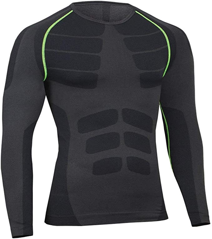 Funktions T-Shirt Hose Herren Kompressions Top Sport Gym Jogging Funktionswäsche