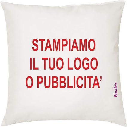 12 Cuscini 40 X 40 Cm Personalizzati Tuo Logo Disegno Regalo Gadget Azienda Amazon It Casa E Cucina