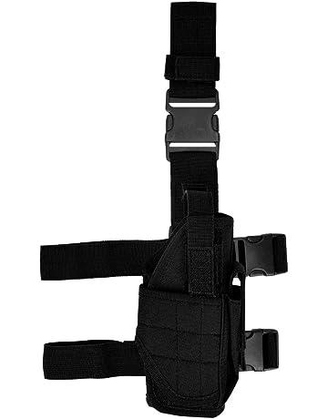 kwmobile Pistolera para Pierna Derecha Funda táctica y sujeción para  cinturón en Negro 942cffeb7df4