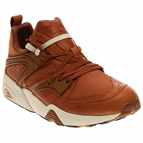 PUMA Blaze of Glory Round Toe Leather Sneakers