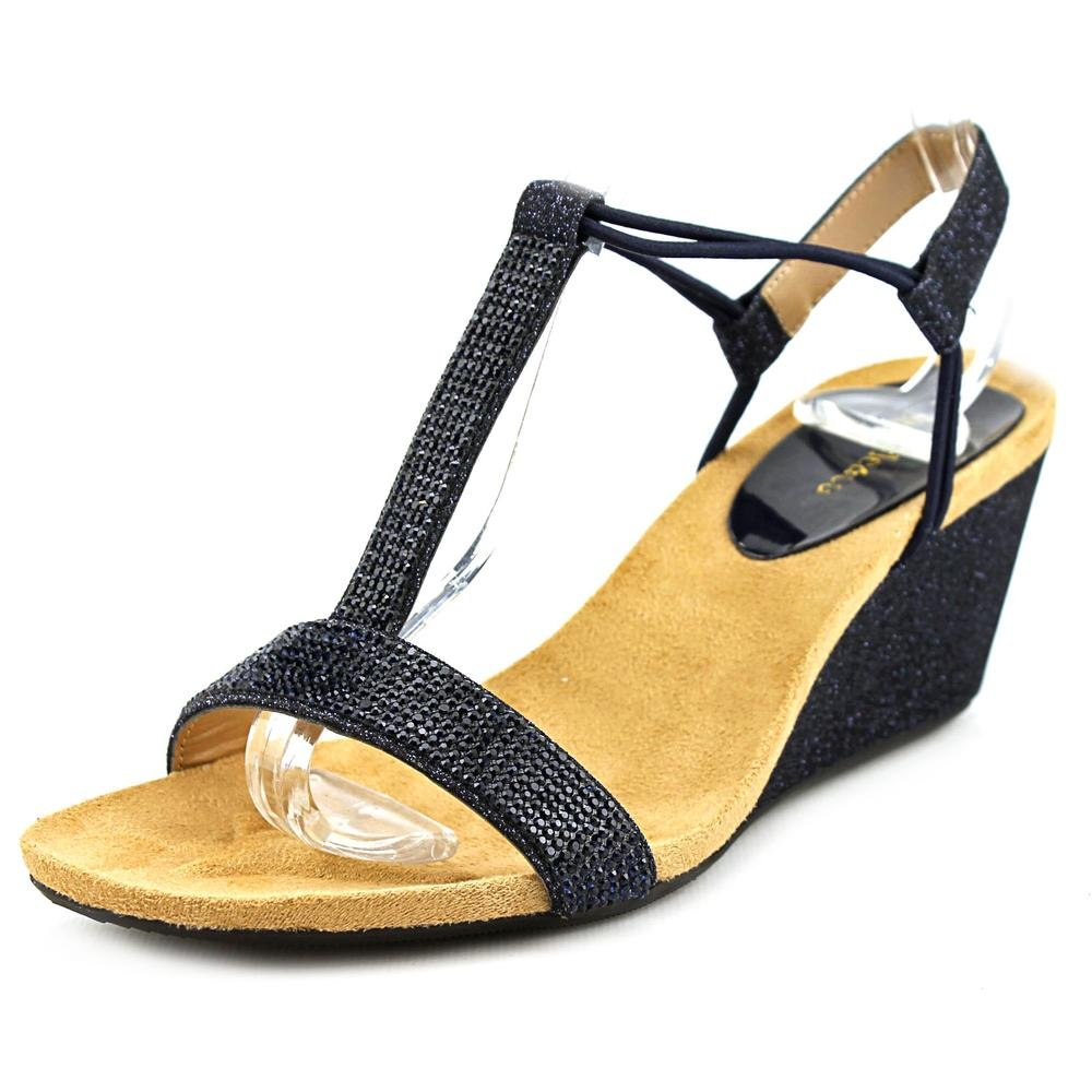 Style & Co. Womens Mulan Open Toe Casual Platform Sandals, Navy, Size 6.5