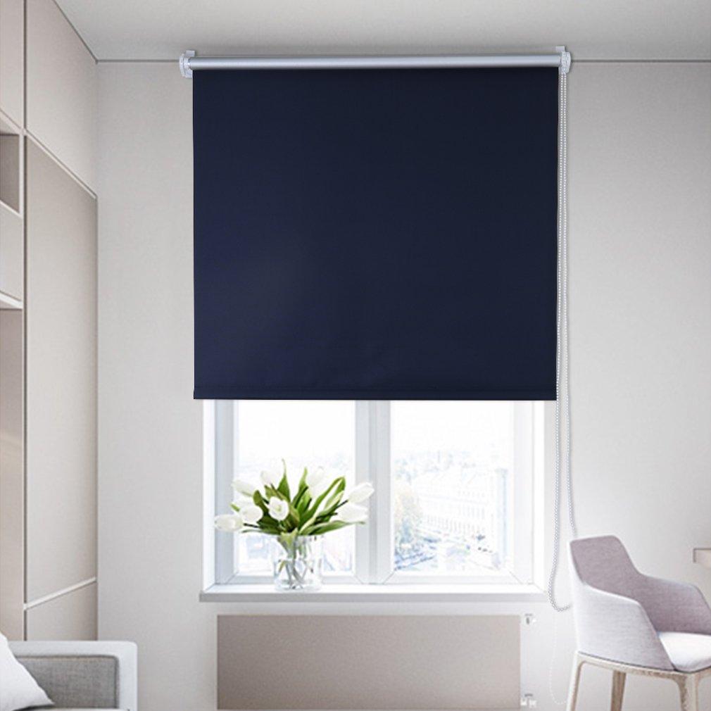SHINY HOME® Tende a rullo colore a scelta ca. 80x175cm Nero YTM