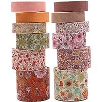 ASTU Vintage Pastal Washi Tape Set - Fall Floral Pattern Washi Masking Tape Assortment, Colorful Decorative Tape for…