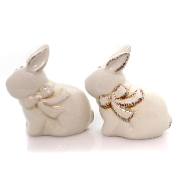 Burton /& Burton Ceramic Easter Bunny Salt and Pepper Shaker Set