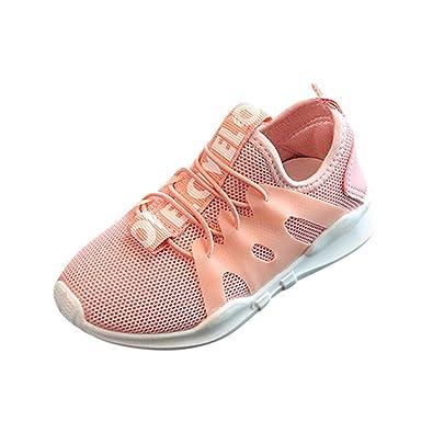 newest 9b459 d6795 Gummiband Sneaker Kinder, DoraMe Baby Jungen Mädchen Brief Laufschuhe Mesh  Lässig Atmungsaktive Sportschuhe Anti-