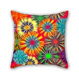 quilted velour throw - Flower Throw Cushion Covers 18 X 18 Inches / 45 By 45 Cm Best Choice For Bench Home Theater Home Office Pub Bar Lounge With Twin Sides