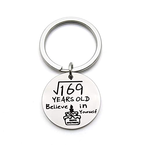 Amazon FEELMEM 13th Birthday Gifts Believe In Yourself Happy Keychain Gift For 13 Year Old Teen Invitations Silver Jewelry