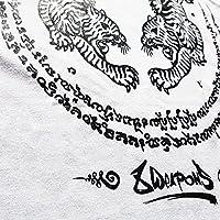 8 WEAPONS Muay Thai T-Shirt, Sak Yant Tigers, weiß, S: Amazon.es ...