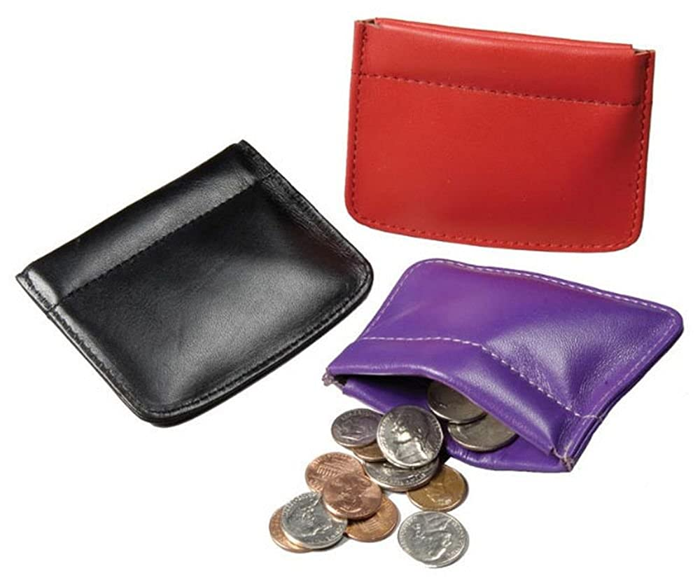 Winn Napa Leather Facile Frame Coin Purse. Black, Blue, Gold, Green, Purple & Red Winn International WX1249_3509828