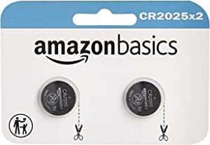 AmazonBasics CR2025 Lithium Coin Cell Battery - 2-Pack (Packaging may vary)