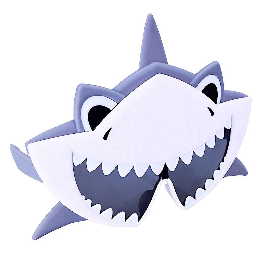 Sunstaches Shark Animal Sunglasses, Instant Costume, Party Favors, UV400