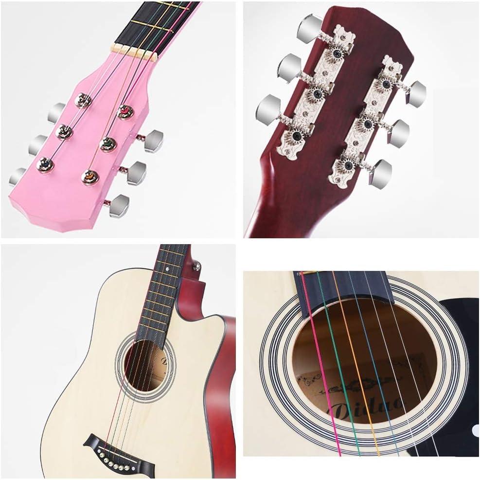 YJFENG-Guitarra Acústica 6 Cuerdas De Alambre con Mochila ...