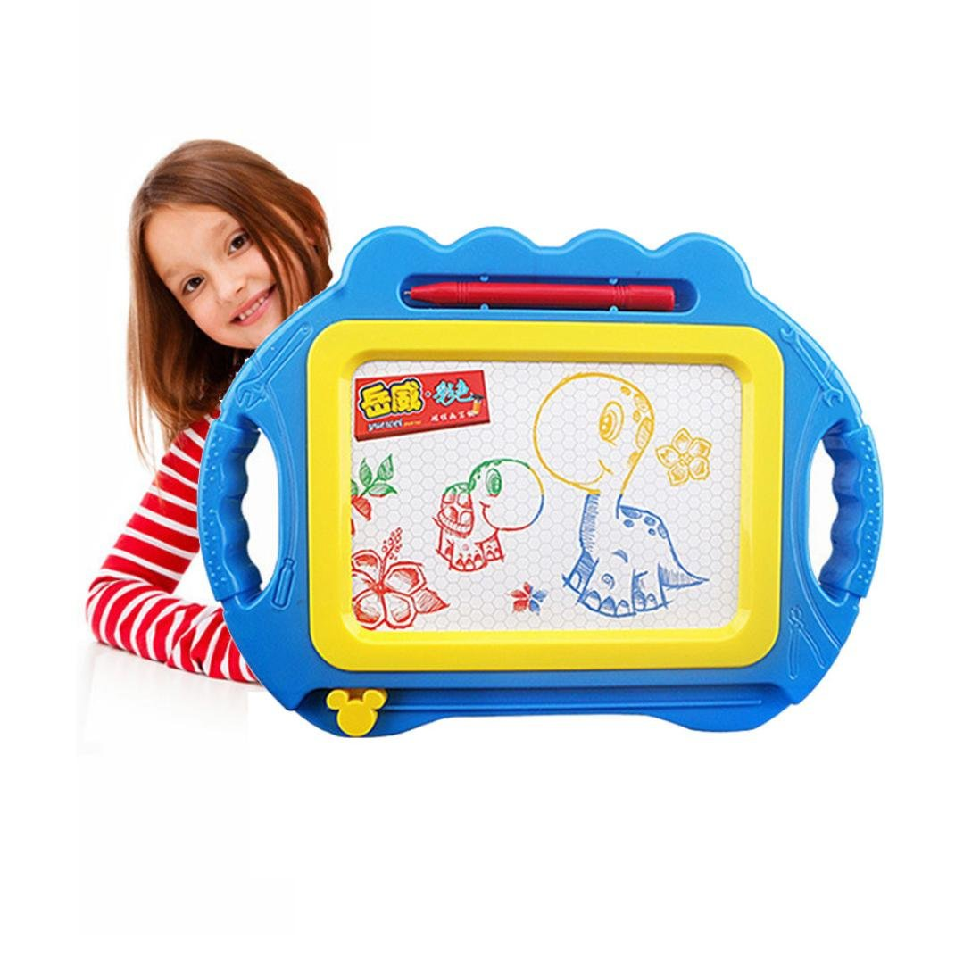 Pen Gift New Educational Kids Doodle Toy Erasable Magnetic Drawing Board Mess Free Drawing Fun Birthday Gifts for Children ages 18 months+ (blue)