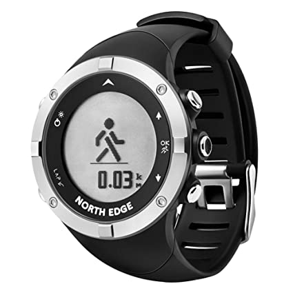 OOLIFENG GPS Reloj Inteligente Actividad Tracker Nadando Brújula Alpinismo Relojes 50M a Prueba de Agua Deporte