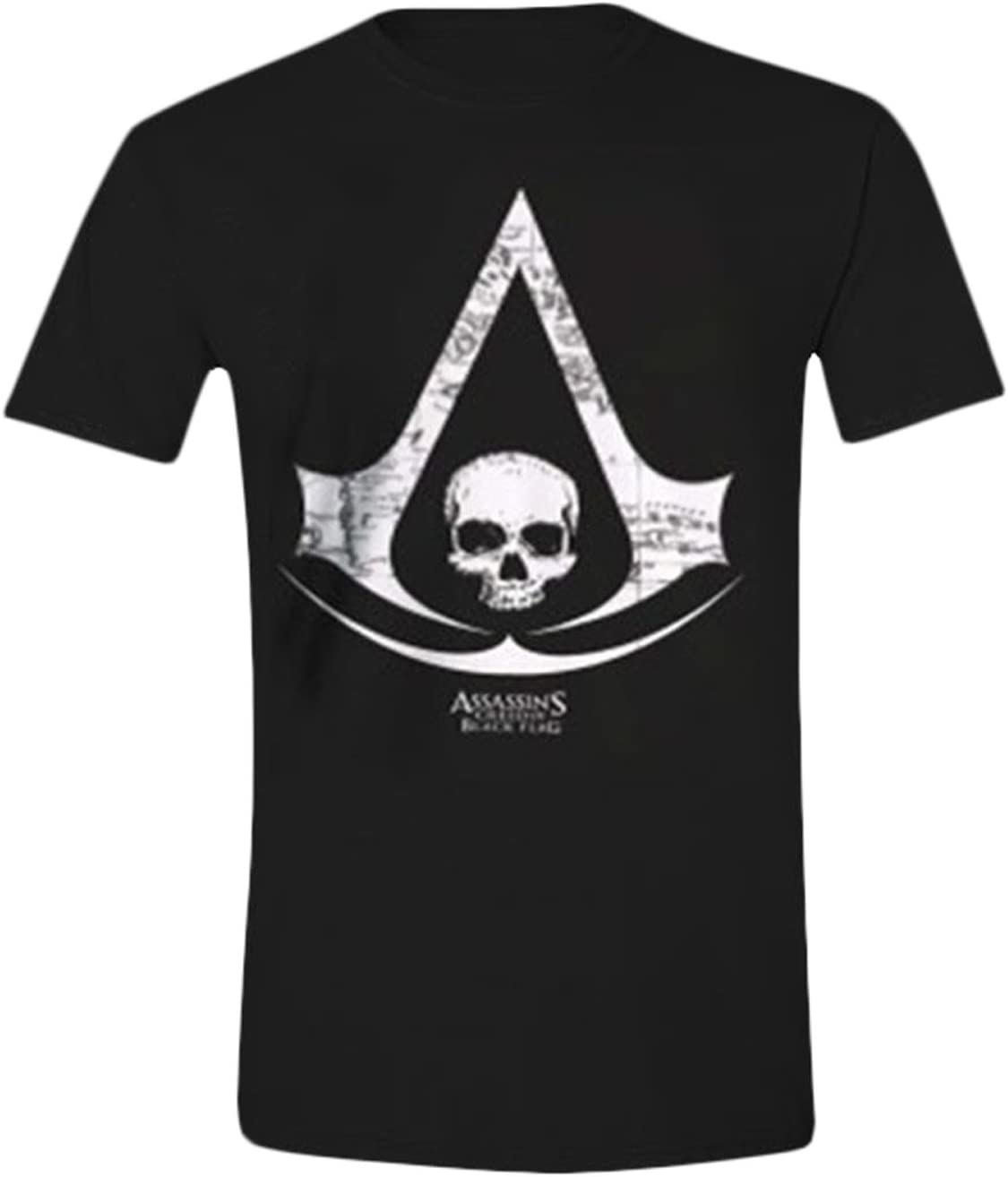 Official Assassin S Creed Iv Black Flag Logo Adult T Shirt M