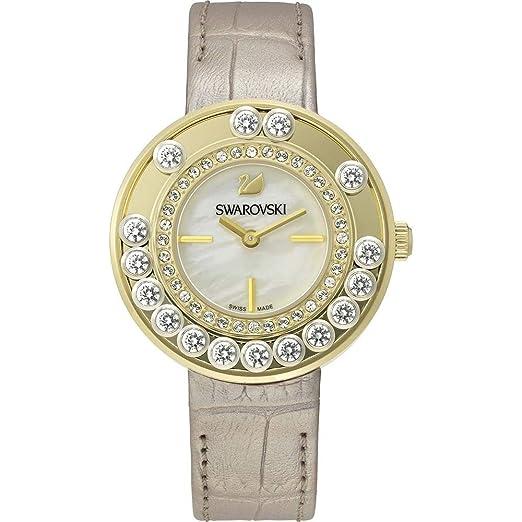 Swarovski Reloj analogico para Mujer de Cuarzo con Correa en Piel 5027203: Amazon.es: Relojes