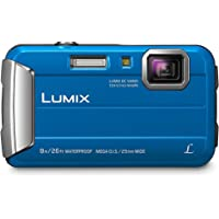 """Panasonic DMCTS30A 16 Waterproof Digital Camera with 4X Optical Image Stabilized Zoom with 2.7"""" LCD, Blue"""