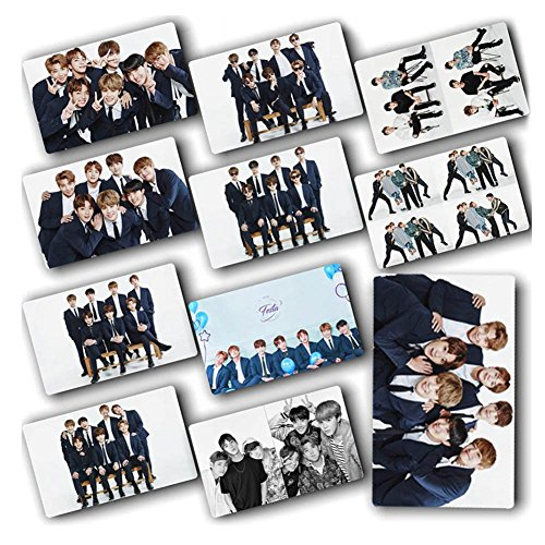 - KPOP BTS Bangtan Boys Photo Postcard Support Lomo Cards Stickers Set Gift for A.R.M.Y, 10 Pcs (1.1 H09)