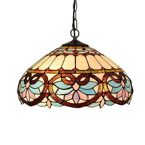 16 Inch Tiffany Style Pendant Light Mediterranean